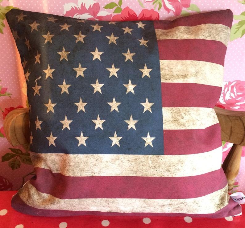 USA flag gift America flag pillow Stars and Stripes cushion image 0