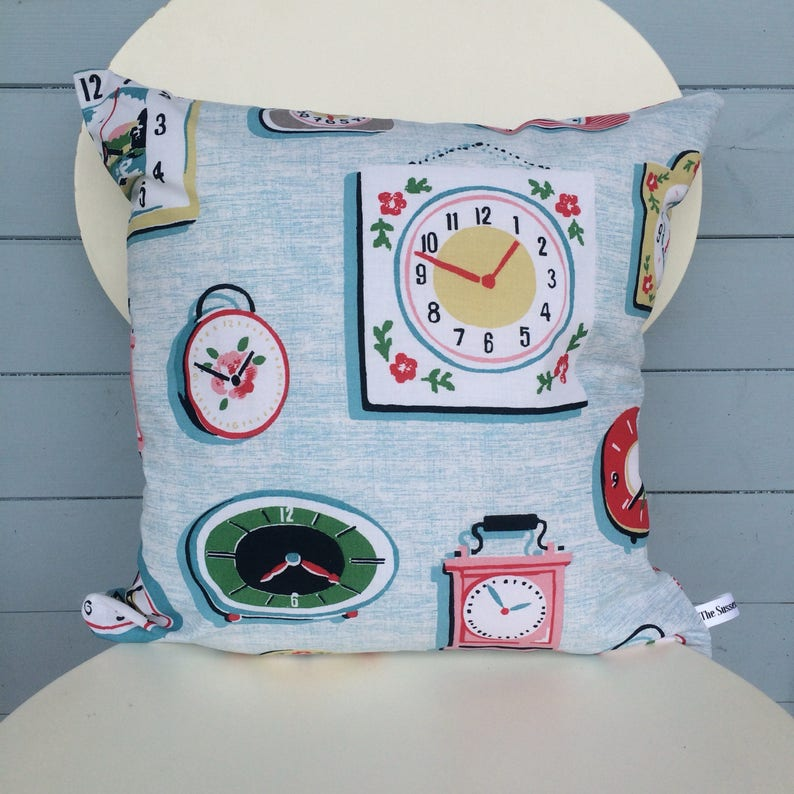 Clocks Pillow Double Sided Clocks Cushion Cath Kidston image 0