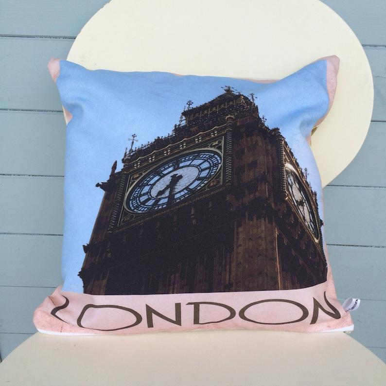 London Big Ben Pillow London Cushion England Gift Gift for image 0