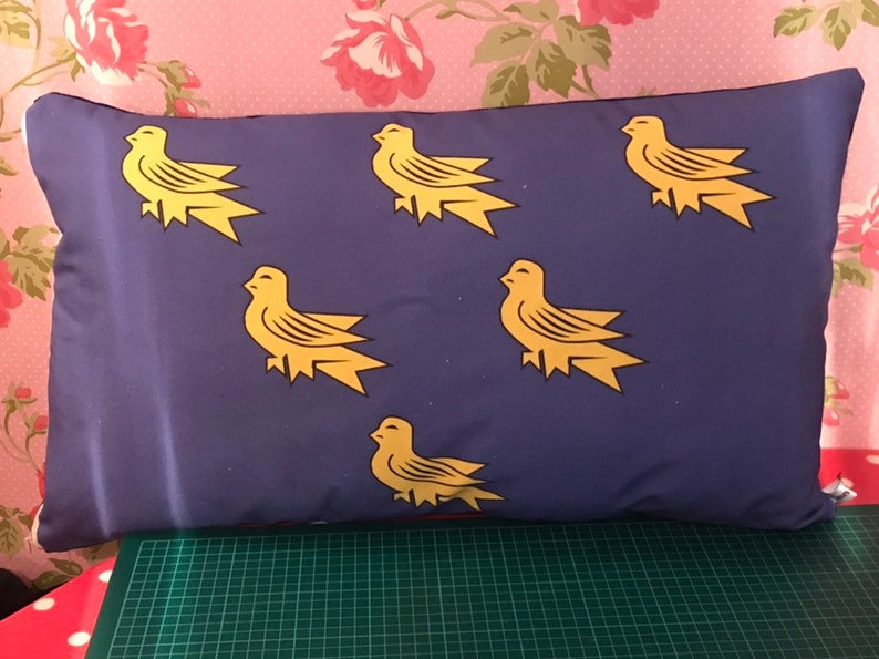 Large Rectangular Sussex Flag Pillow Sussex Cushion England image 0