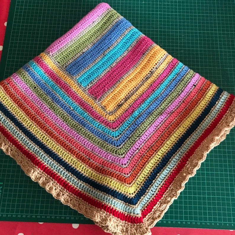Crochet blanket  Rainbow Blanket image 0
