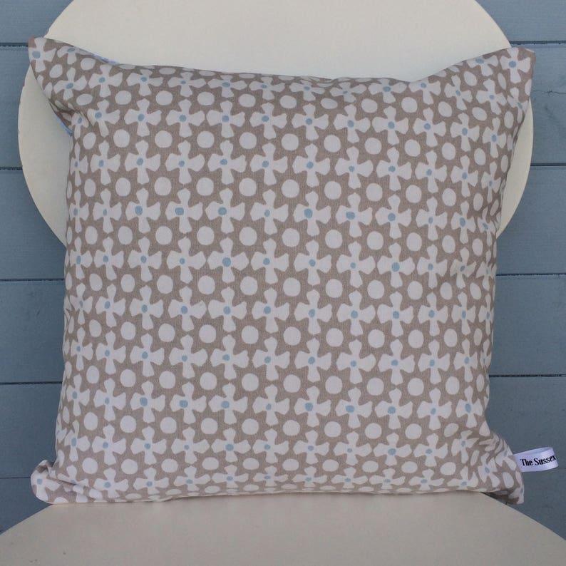 Clarke and Clarke Reef Cushion Geometric Pattern Pillow image 0