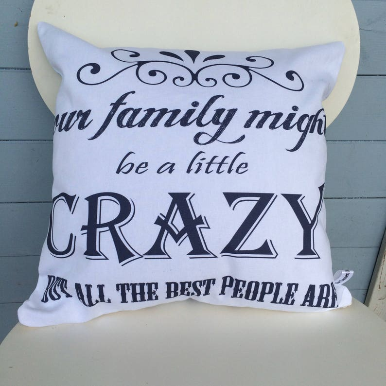 Crazy Family Pillow Best Family Cushion Home Decor image 0