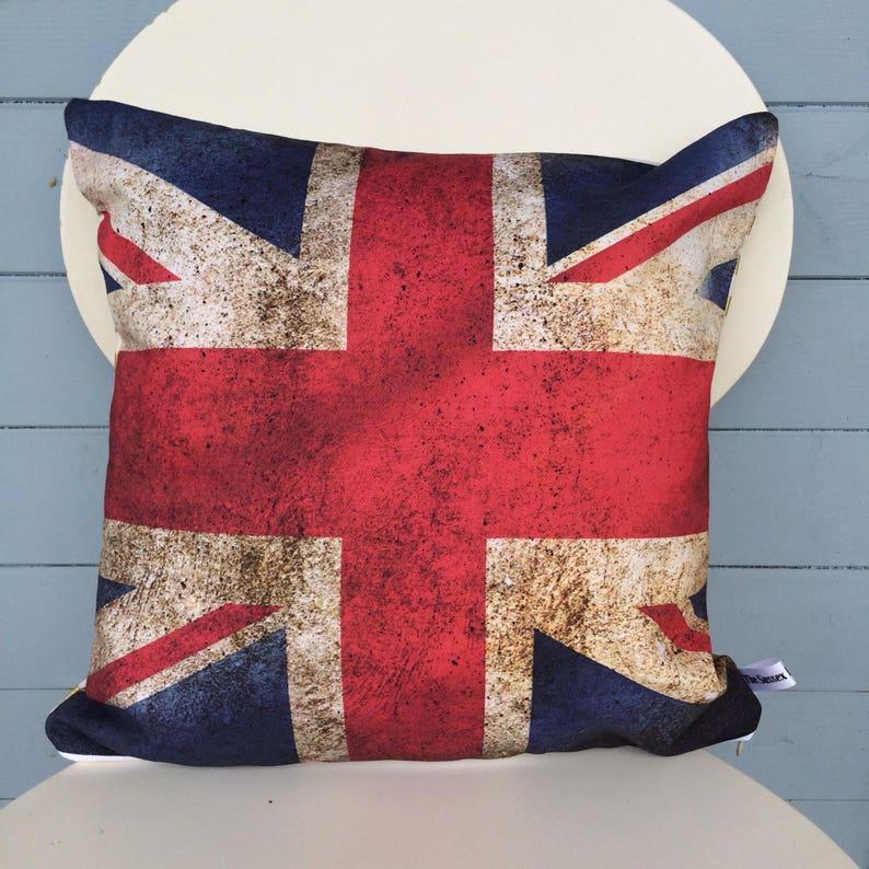 Union Jack Flag cushion British Flag Pillow UK flag Man image 0