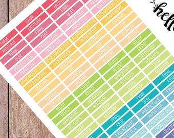 College Planner Stickers| University stickers | Study Stickers | Erin Condren Planner Stickers | Happy Planner Stickers | HP CO.