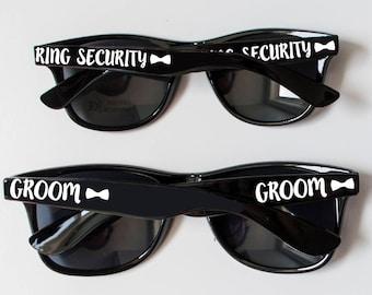 Ring Security Sunglasses, Flower Girl Sunglasses, Bride Sunglasses, Groom Sunglasses,  Kids Sized Sunglasses, Wedding Ring Bearer Sunglasses