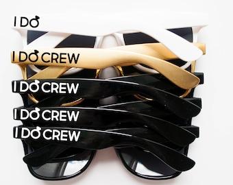 Custom Gold Bachelorette Party Wedding Sunglasses, Bridal Party Sunglasses, I Do Crew Sunglasses, Personalized Sunglasses, Custom Sunglasses