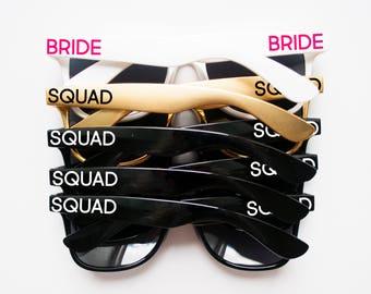 Squad Sunglasses, Bride Sunglasses, Personalized Sunglasses, Custom Sunglasses, Bachelorette Sunglasses, Wedding Sunglasses, Wayfarer