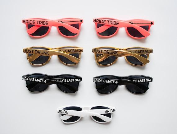 60b7f2cd95 Coral Gold Personalized Sunglasses Custom Sunglasses
