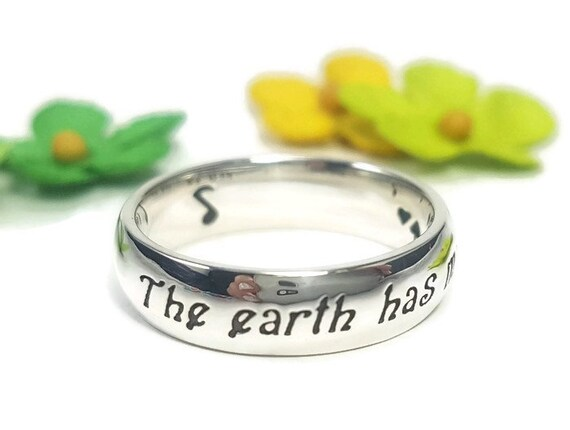 0fbebec7d473c Music Jewelry Music Ring Earth Jewelry Shakespeare Quote Ring Environment  Jewelry Inspirational Quote Music Note Sterling Silver Handmade