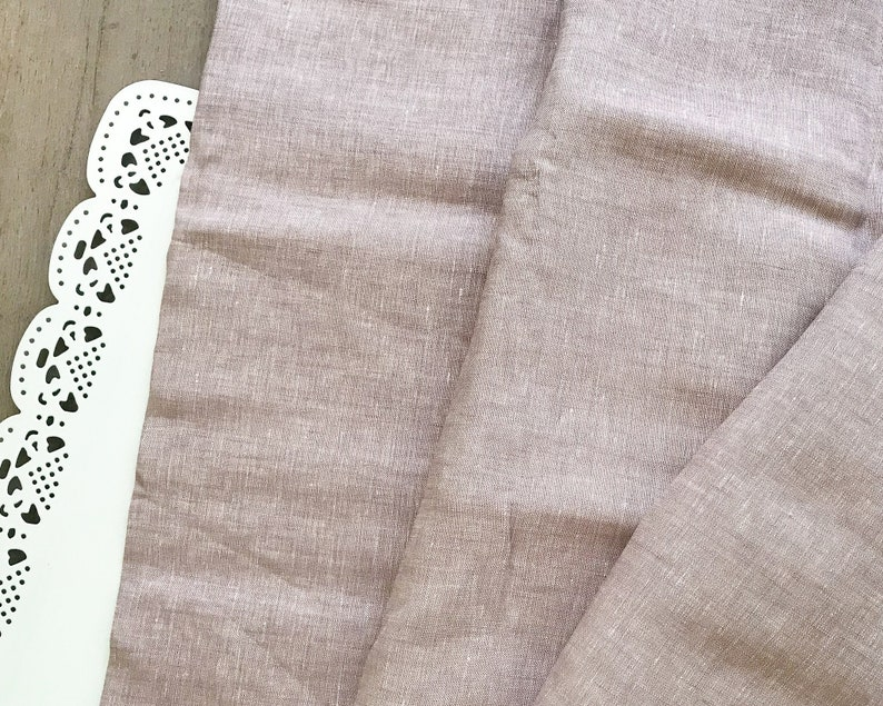 Half Meter 100/% Linen Material Embroidery Fabric Dusty Pink Linen Fabric Sewing Fabric