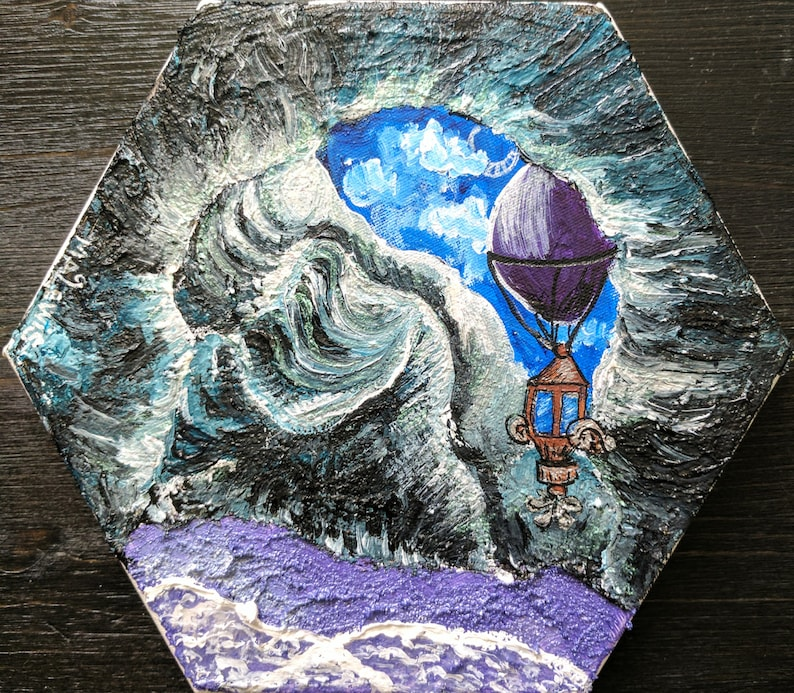 Obsidian Sea Cave On A Violet Shore Etsy