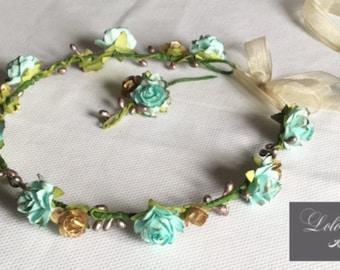 Crown of flowers 'Pemberley' - flower/communion/wedding/events