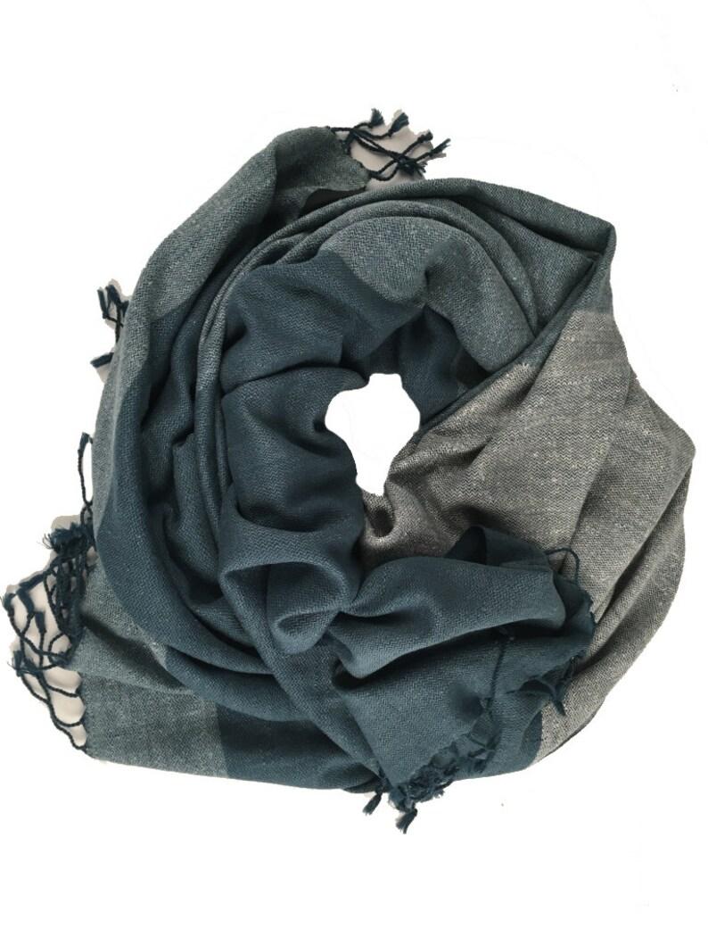 59eef7a38 Hand Woven Indigo Dyed Eri Silk Blanket/Throw. Luxury Blanket. | Etsy