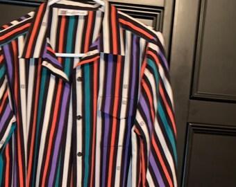 ed958a75b30 Vintage Pierre Balmain Striped Logo Shirt Dress