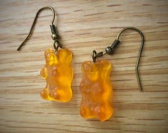 Teddy bear candy realistic realistic gummy bear earrings-earring