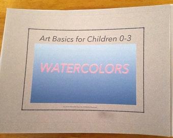 Art Basic for Children 0-3: Watercolors