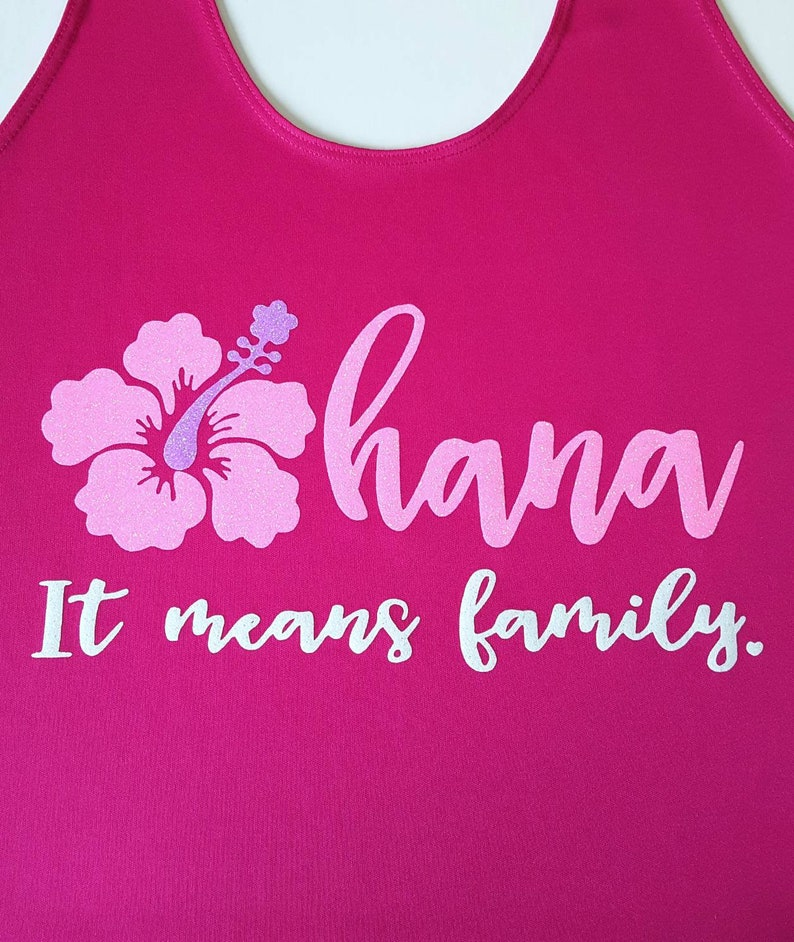 d88c8ead Ohana pink workout running or park shirt 4 styles of | Etsy