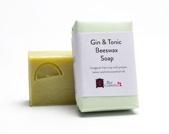 Gin & Tonic Beeswax Soap, perfect gift for gin lovers