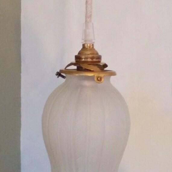Oud Glazen Lampekapje.Upcycled Lamp Gemaakt Van Oude Franse Glas Lampenkap Met Linnen Doek Snoer Vintage Licht Verlichting Handgemaakte Dutch Design Brocante