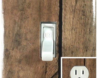 rustic light switch covers rustic old wood fence design decorative light switch cover outlet wall plate free shipping light switch cover etsy