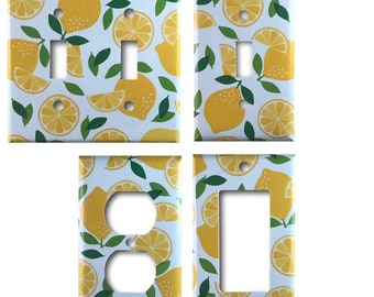 Lemon Decorative  Light Switch Outlet Rocker GFCI Wall Plates *Free Shipping*