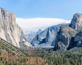 Yosemite fine art photo - mounted Yosemite print - 14 x 11 inch mount - nature photograph - granite mountains - yosemite valley