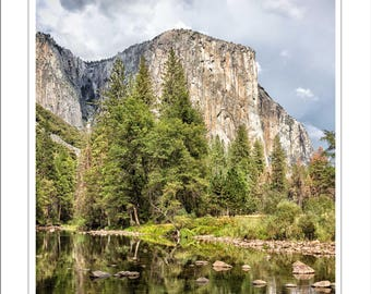 Yosemite fine art photo - el capitan - mounted Yosemite print - 14 x 11 inch mount - nature photograph - granite mountains - yosemite valley