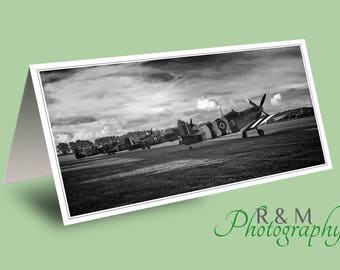 spitfire greeting card - spitfire -  spitfires - fathers day card - greetings card - photo greeting card - card for man - any occasion card