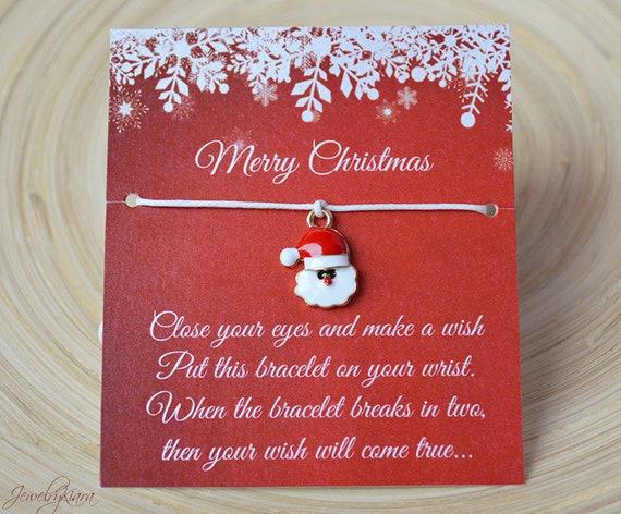Christmas Wish Bracelet Merry Christmas Christmas Gift Etsy