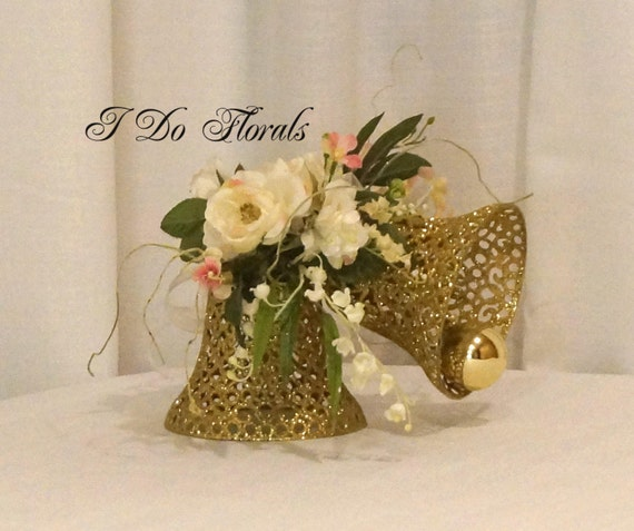 Gold And White Wedding Centerpiece White And Gold Floral Etsy