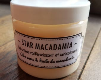 """The """"Star Macadamia"""", gel-cream slimming and firming macadamia oil, aloe vera, glycerin and slimming assets"""