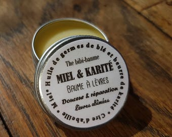 """""""Honey and shea butter"""", lip protection, softness and repair dry and damaged honey and shea butter lip balm"""