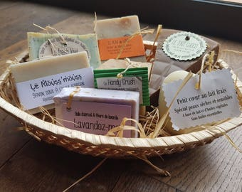"""The """"Basket 7 soaps"""", 7 interchangeable soaps gift basket"""