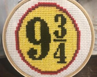 Platform 9 3/4 Completed Cross Stitch