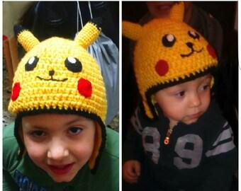 Yellow beanie, manga hat, cartoon hat