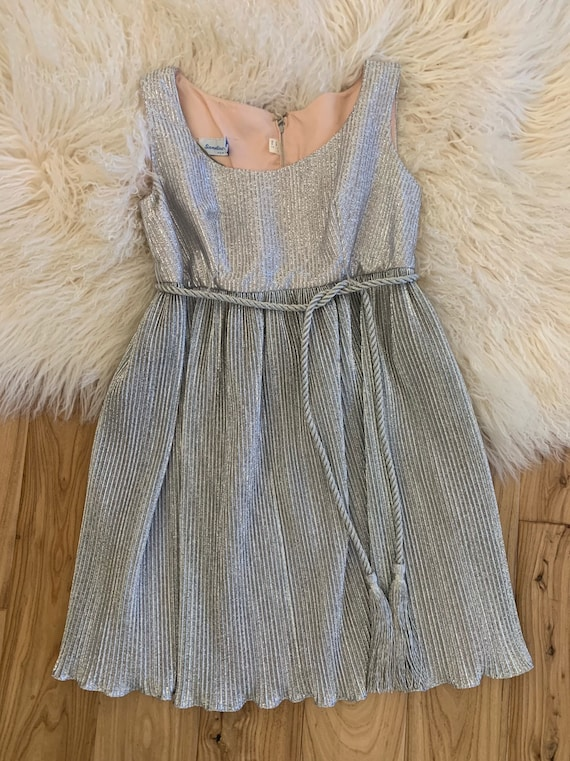 1960s metallic mini dress