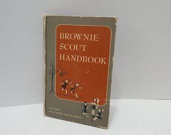 1951 Vintage Brownie Scout Handbook Hardcover Book