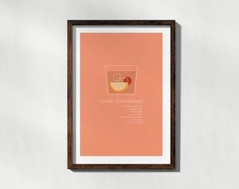 Classic Old Fashioned Minimalist Poster Art