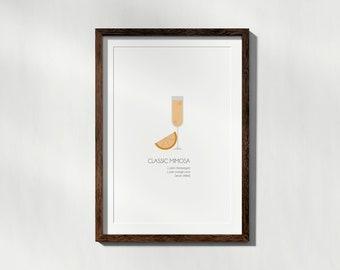 Mimosa Minimalist Poster Art