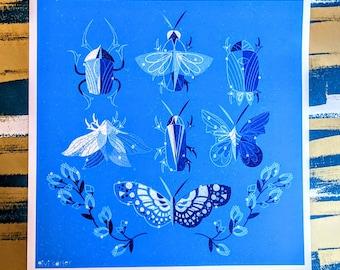 Bugs Square Print