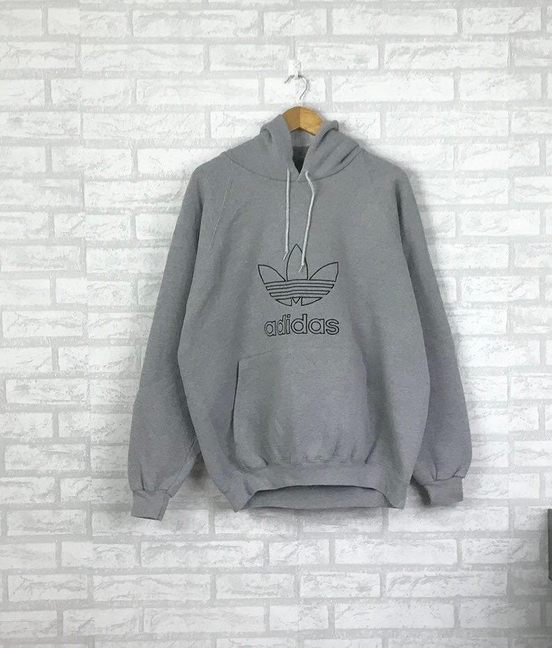 timeless design f651a 6996a RareVintage 90 s ADIDAS TREFOIL pullover Hoodie   Etsy