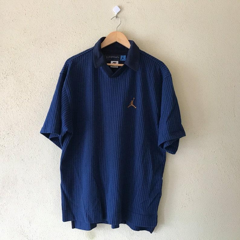 76860e9acf5 RareVintage 90's NIKE AIR JORDAN jumpman Polo shirt | Etsy