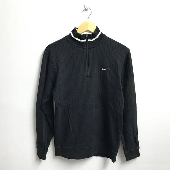 c431081162b9b Rare!! NIKE GOLF Swoosh Sweatshirt Small Logo Embroidery Pullover Jumper  Hip hop swag black Colour medium size(B3)
