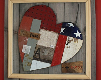 just a little bit of love and kisses - Valentine - reclaimed timber -  wood wall art - love -  typography
