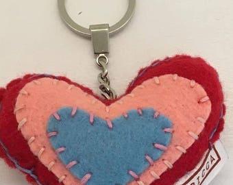 Heart Keyring Keychain