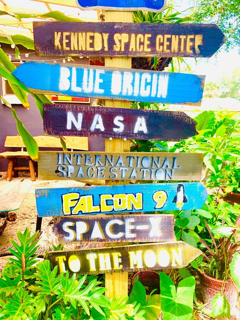 Great Gift Idea Set of Custom Directional Destination Tiki Sign Decor Goes great next to your Pool or in your Garden