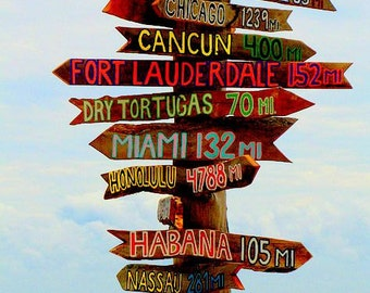 Set of 13 Directional Signs Tiki . Fairy Tale Destination---Directional Sign . Custom . Tiki . Arrows . Road Sign Act