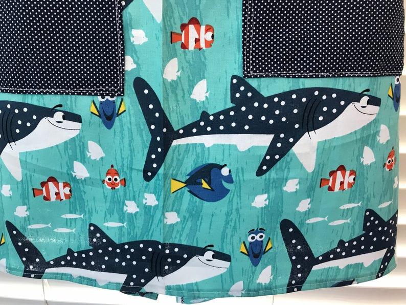 Apron Finding Dory  apron Finding Nemo  shark apron  nemo apron  school of fish apron  Pixar movie  Pixar apron