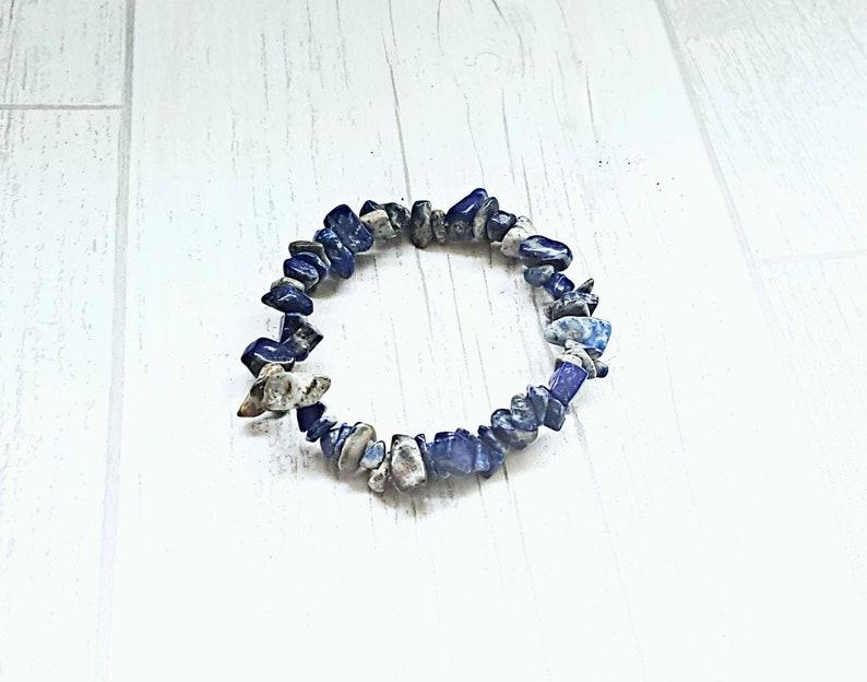 Lapis lazuli bracelet crystal chip bracelet crystal therapy gemstone jewellery healing crystal bracelet healing bracelet